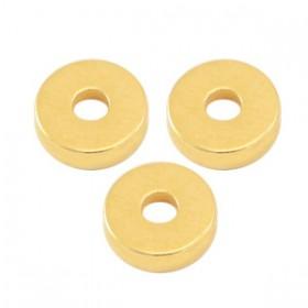 DQ metalen disc rondellen 6x2mm goud (nikkelvrij)
