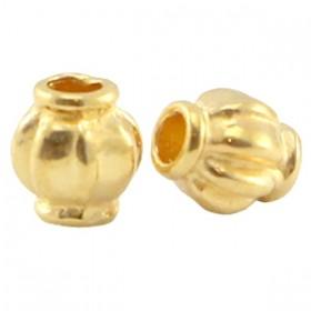 DQ metalen kraal 4x3.5mm goud