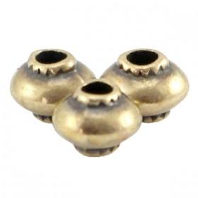 DQ metalen kraal cone 5x4mm brons