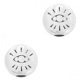 DQ metalen kraal oog 6x6mm zilver