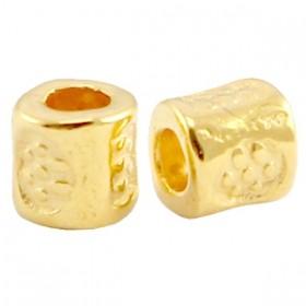 DQ metalen kraal tube 3x3mm goud