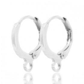 DQ oorringen antiek zilver rond 12mm (per paar)