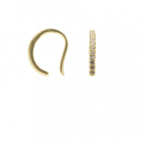 Karma earcuff zirconia 925 Sterling Silver goldplated (1piece)