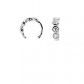 Karma earcuff four zirconia 925 Sterling Silver (1piece)