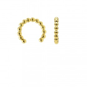 karma-earcuff-plain-dots-925-sterling-silver-goldplated-1piece