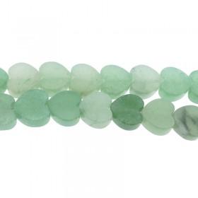 Edelsteen groene aventurijn hart kraal 10mm