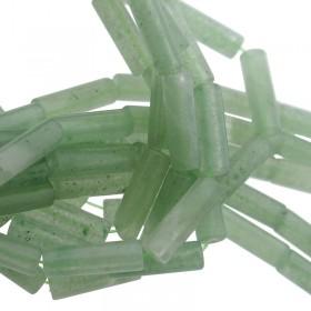 Edelsteen / natuursteen groene aventurijn tube kralen rond 13x4mm bruin