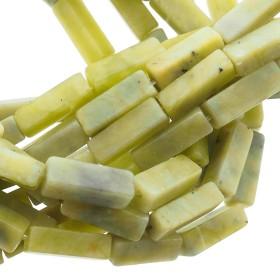 Edelsteen / natuursteen jaspis tube kralen rond 13x5mm olive green