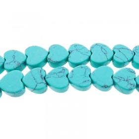 Turquoise hart kraal 10mm