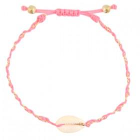 enkelbandje-kauri-gevlochten-pink-gold
