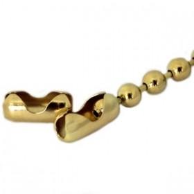 Slot bolletjesketting goud 2mm