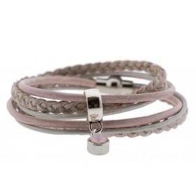 FRIS! Wikkelarmband braided vintage rose