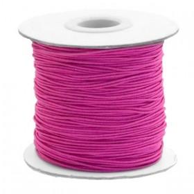 Gekleurd elastiek draad rond 0.8mm cherry pink 1 meter