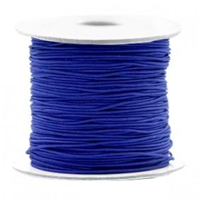 Gekleurd elastiek draad rond 0.8mm cobalt blue 1 meter