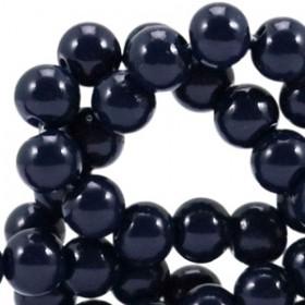 Glaskraal opaque 6mm dark midnight blue