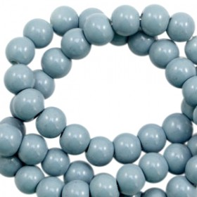 Glaskraal rond 6mm opaque light airforce blue