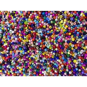 Glaskralen rocailles 11/0 2mm rond 8 gram mix 18