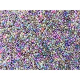 Glaskralen rocailles 11/0 2mm rond 8 gram mix 19