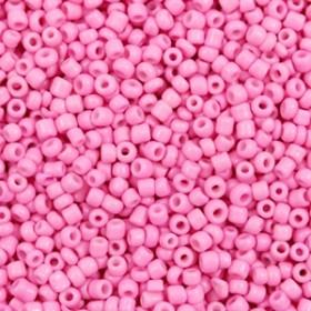Glaskralen rocailles 12/0 2mm rond 8 gram aurora pink