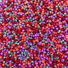 Glaskralen rocailles 12/0 2mm rond 8 gram mix 11