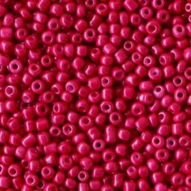 Glaskralen rocailles 12/0 2mm rond 8gram rumba red