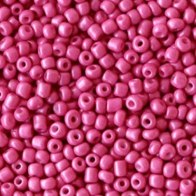 Glaskralen rocailles 12/0 2mm rond 8 gram cerise pink