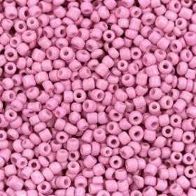 Glaskralen rocailles 12/0 2mm rond 8 gram taffy pink