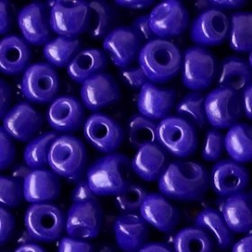 Glaskralen rocailles 6/0 4mm rond 8gram royal purple