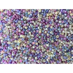 Glaskralen rocailles 8/0 3mm rond 8 gram mix 15