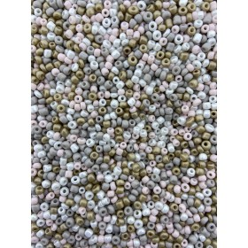 Glaskralen rocailles 8/0 3mm rond 8 gram mix 20