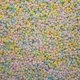 Glaskralen rocailles 8/0 3mm rond 8 gram mix pastel
