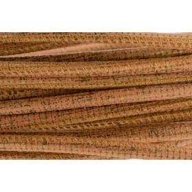 High Quality gestikt leer rond 4mm met print snake signal orange per 20cm