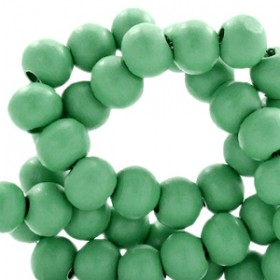 Houten kraal rond 6mm winter green
