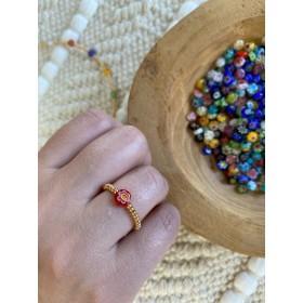 DIY pakket elastische ring met millifiori kralen