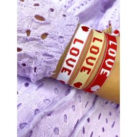 LOVE armbandje met gouden of zilveren sluiting