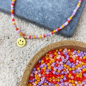 DIY pakket summer mix goud met smiley bedel
