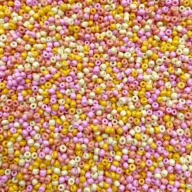 Glaskralen rocailles 11/0 2mm rond 8 gram mix 35