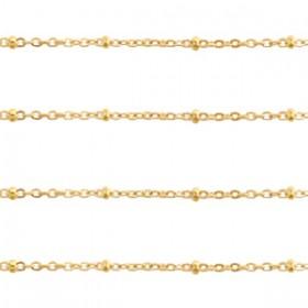 Jasseron balletjes stainless steel 2mm goud per 20cm
