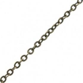 Jasseron ovalen schakel 1.3mm brons per meter