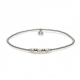 karma armband 925 sterling zilver round sand