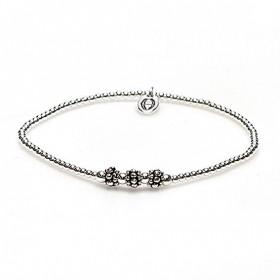karma armband 925 sterling zilver triple flower