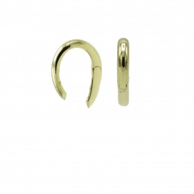 Karma earcuff plain 925 Sterling Silver goldplated (1piece)