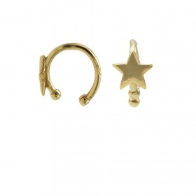 Karma earcuff star 925 Sterling Silver goldplated (1piece)
