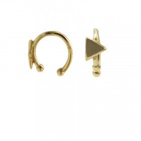 Karma earcuff triangle 925 Sterling Silver goldplated (1piece)