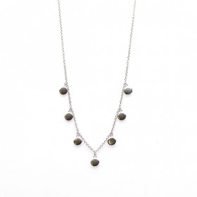 Karma ketting 7 discus 925 sterling zilver 38-45cm