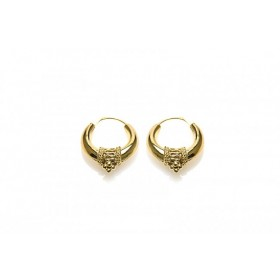 Karma oorbellen bali hoops goldplated 20mm (per paar)
