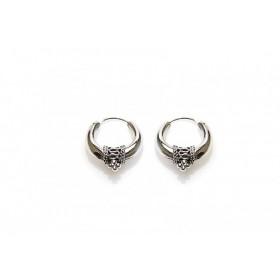 Karma oorbellen bali hoops silver 16mm (per paar)