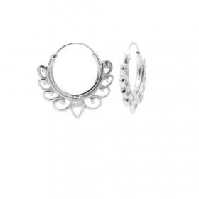 Karma oorbellen hoops solid bow 925 sterling silver 13mm (per paar)
