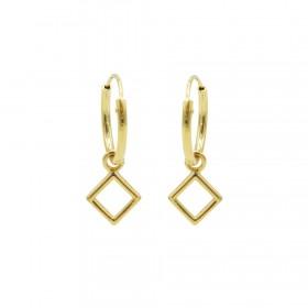 Karma oorbellen hoops symbols open square goud