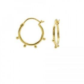 Karma oorbellen hoops symbols solid 4 dots goud
